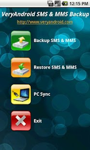 VeryAndroid SMS & MMS Backup - screenshot thumbnail