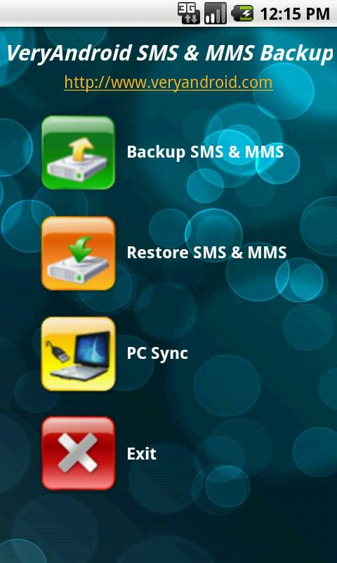 VeryAndroid SMS & MMS Backup- screenshot
