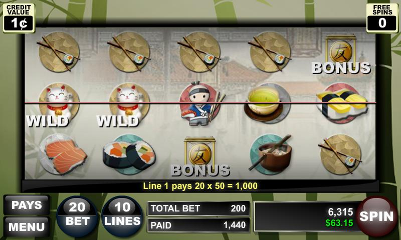 Sushi Dojo Slots - screenshot