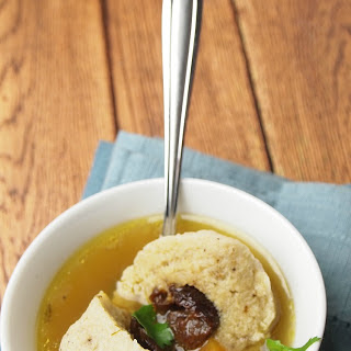 Prune Stuffed Matzo Balls