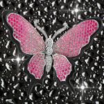 Diamond Pink Butterflies