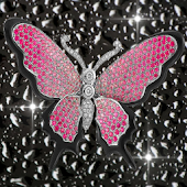 Diamond Pink Butterflies