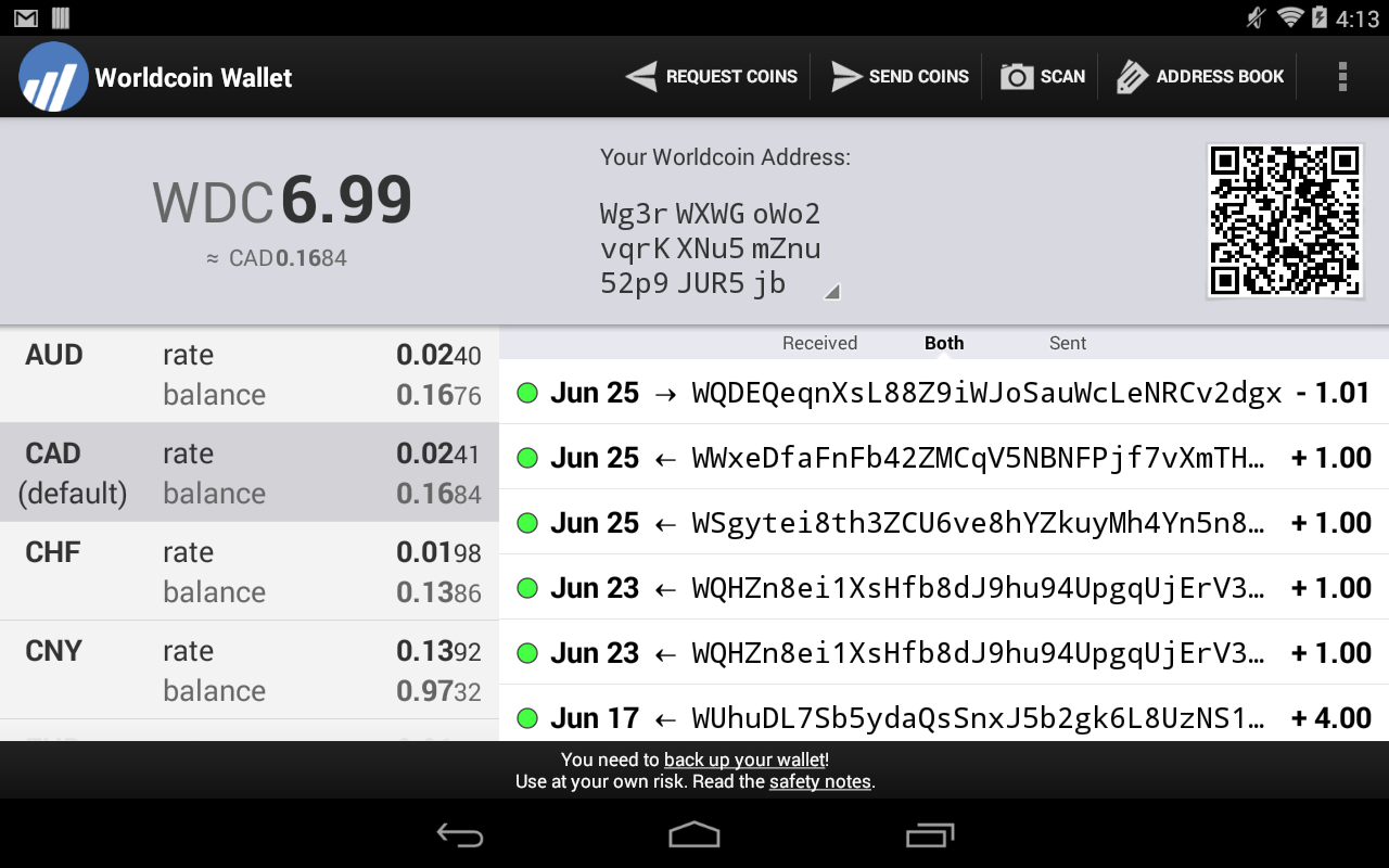 Worldcoin Wallet (Obsolete)- screenshot