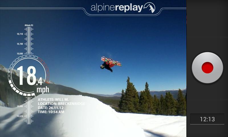 AlpineReplay Ski & Snowboard - screenshot