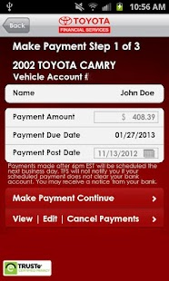 myTFS - Toyota Financial - screenshot thumbnail