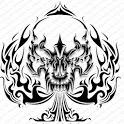 Skulls Tattoo Design Wallpaper icon
