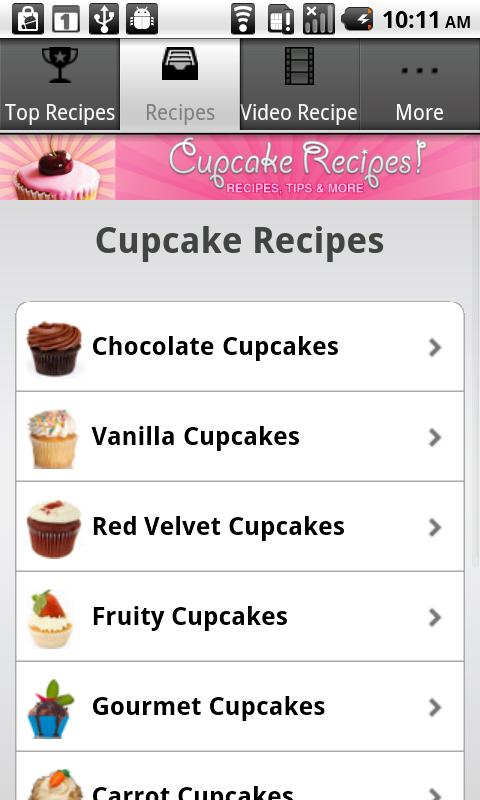 Cupcake Recipes!!- screenshot