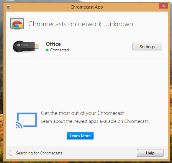 ChromeCast App Connected Example