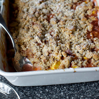 Peach and Pecan Sandy Crumble.