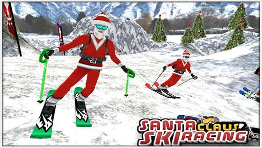 Santa Claus Ski Racing