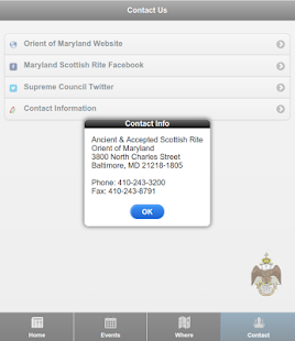 Maryland Scottish Rite - screenshot thumbnail
