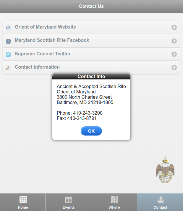 Maryland Scottish Rite - screenshot