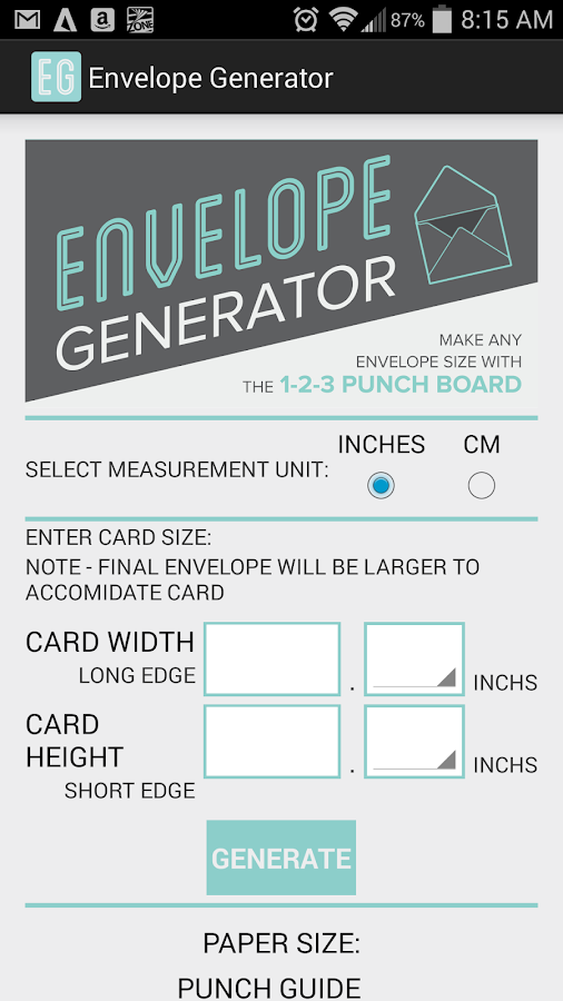 Envelope Generator- screenshot