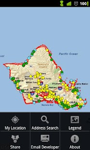 Honolulu Tsunami Evac. Zones - screenshot thumbnail