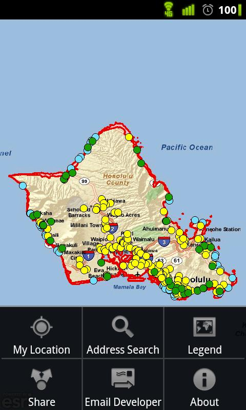 Honolulu Tsunami Evac. Zones - screenshot