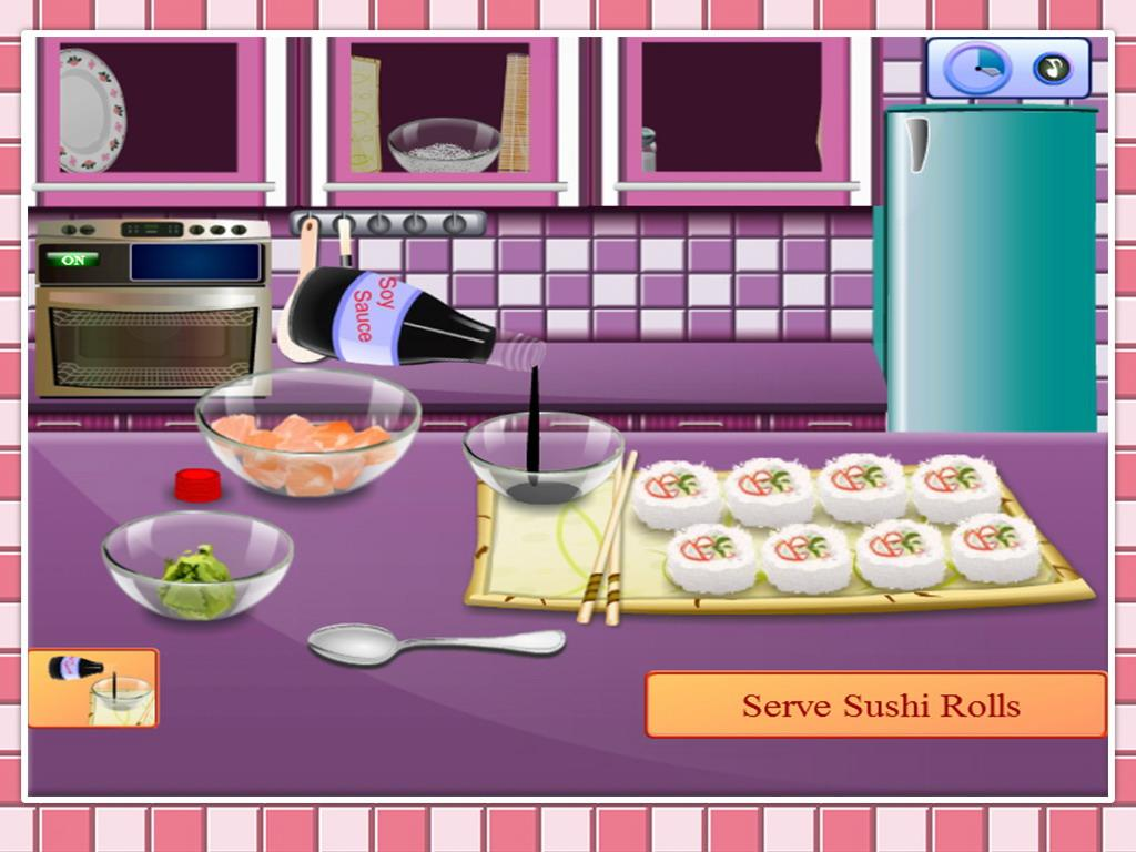 play sushi games cooking