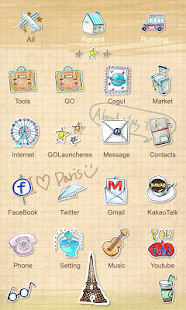 Parisien - GO Launcher Theme - screenshot thumbnail