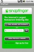 Screenshot of Snapfinger Restaurant Ordering