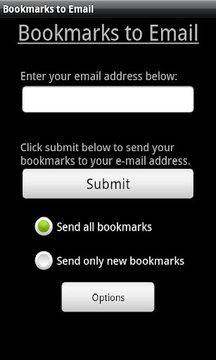 Bookmarks to Email