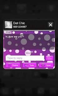 免費個人化App|Beautiful Purple Polka Dot SMS|阿達玩APP