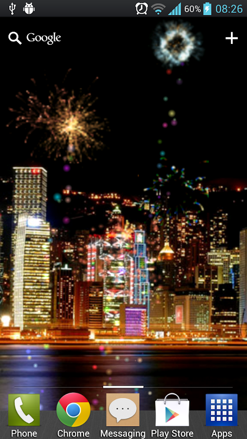 Fireworks Free Live Wallpaper - screenshot