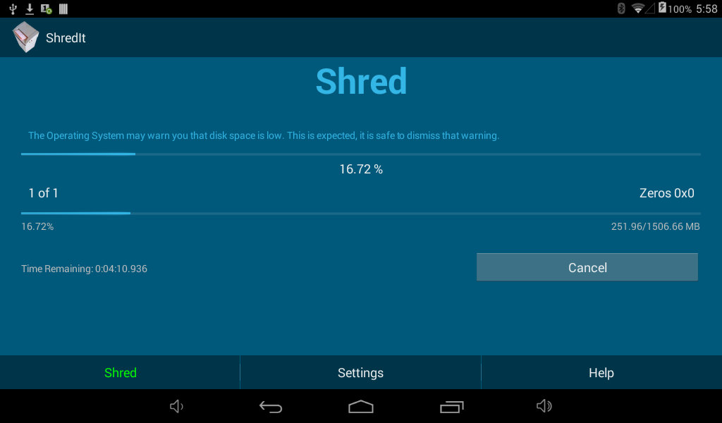 ShredIt Mobile- screenshot