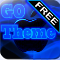 GO Theme iPhone 5 Blue Neon icon