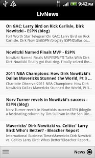 LivNews: Dirk Nowitzki - screenshot thumbnail