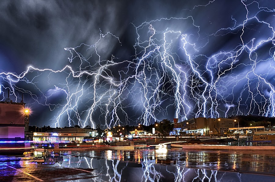 Night of a thousand bolts by Alexius van der Westhuizen - Landscapes Weather ( cloudburst, lightning, electric, weather, flashes, thunder storm, electricity, storm,  )