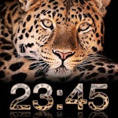 Leopard Digital Clock