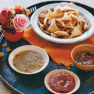 Salsa Trio and Homemade Tortilla Chips