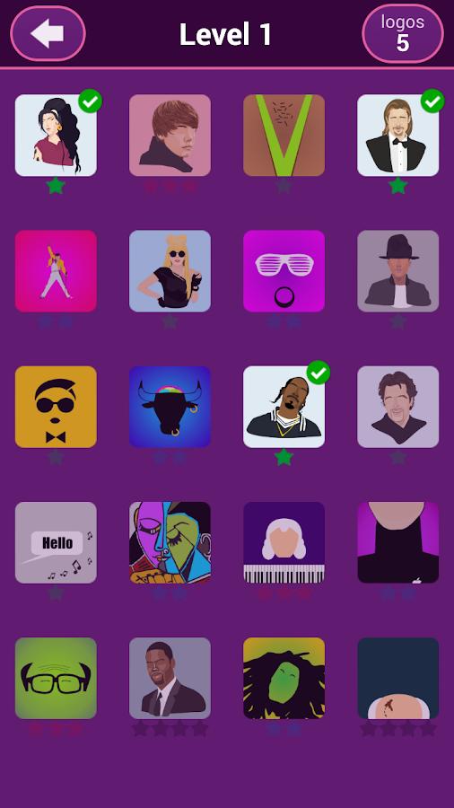 Celebrity name game app