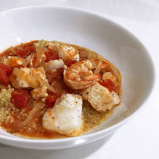Cod and Shrimp Stew with Quinoa.