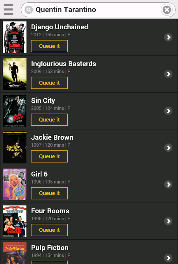 GoWatchIt Movie Search & Queue- screenshot