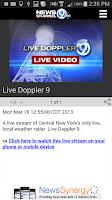 Screenshot of NewsChannel 9 WSYR Syracuse