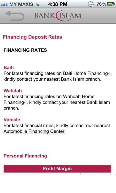 Bank Islam- screenshot