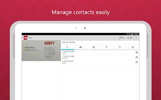 Screenshot of Business Card Reader Free