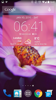 Weather & Clock Widget Ad Free- screenshot