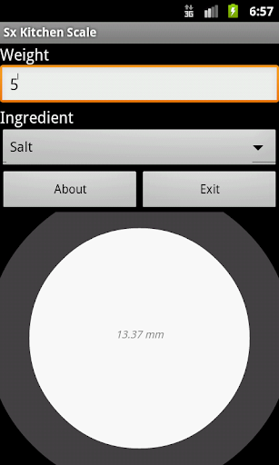 Kitchen Scale Screenshot