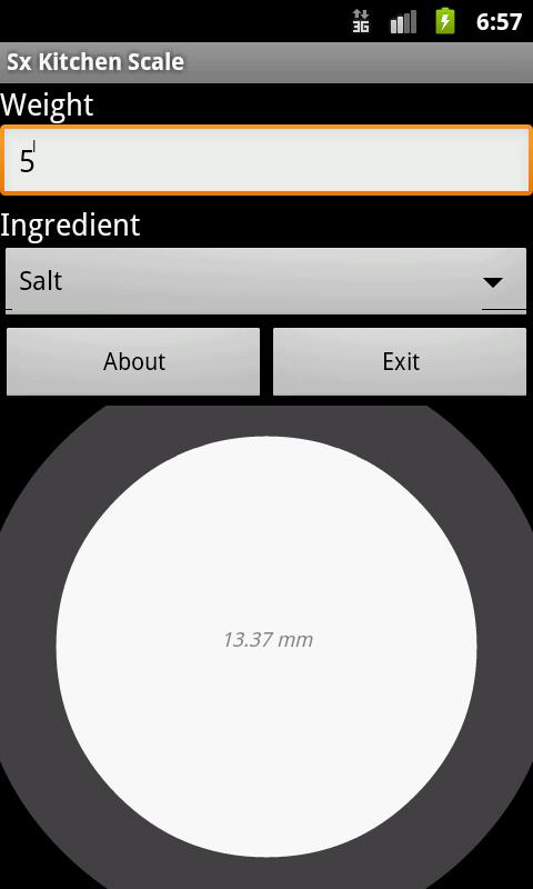 Kitchen Scale- screenshot