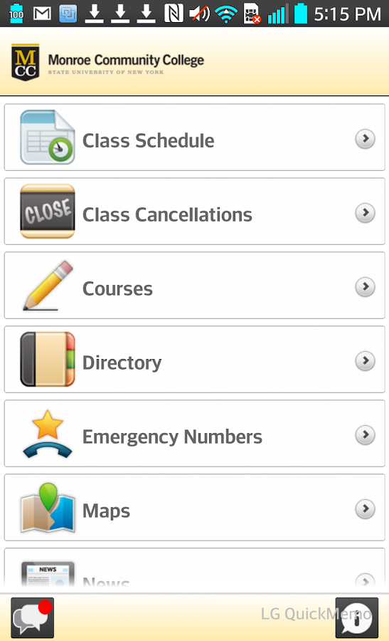 Monroe Community College- screenshot