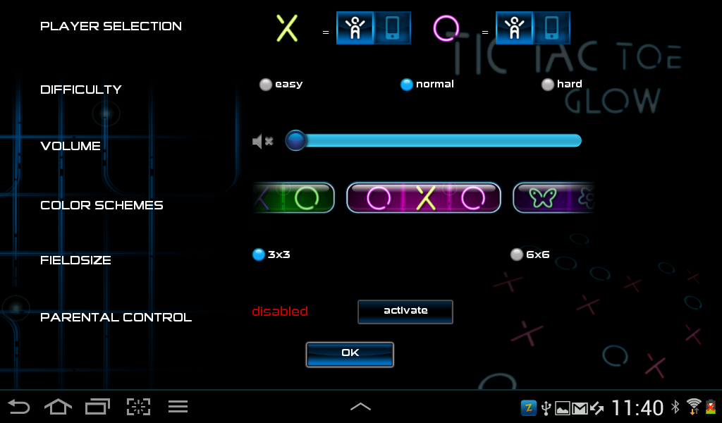 Tic Tac Toe Glow  PREMIUM - screenshot