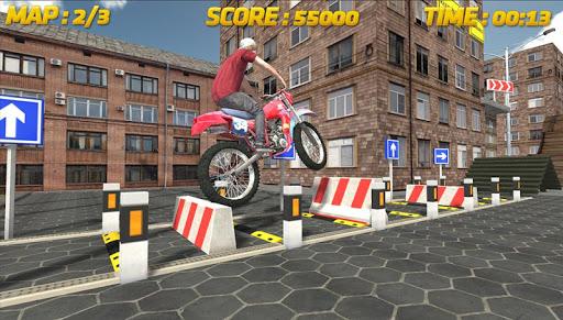 自転車レースの3D:スタント
