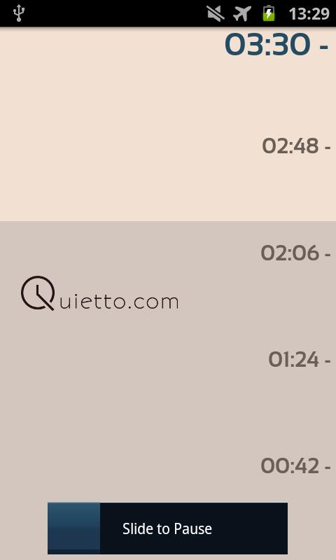 Quietto- screenshot