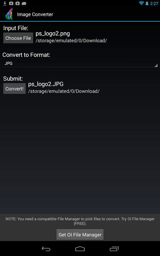 The File Converter - screenshot