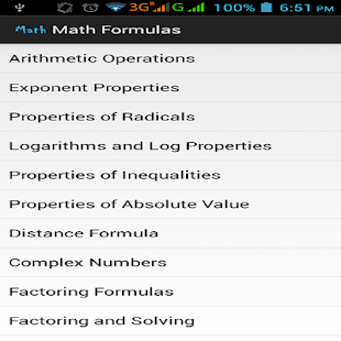 Maths Formulas - screenshot thumbnail