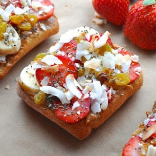 Fruity Peanut Butter Chia Breakfast Sandwich