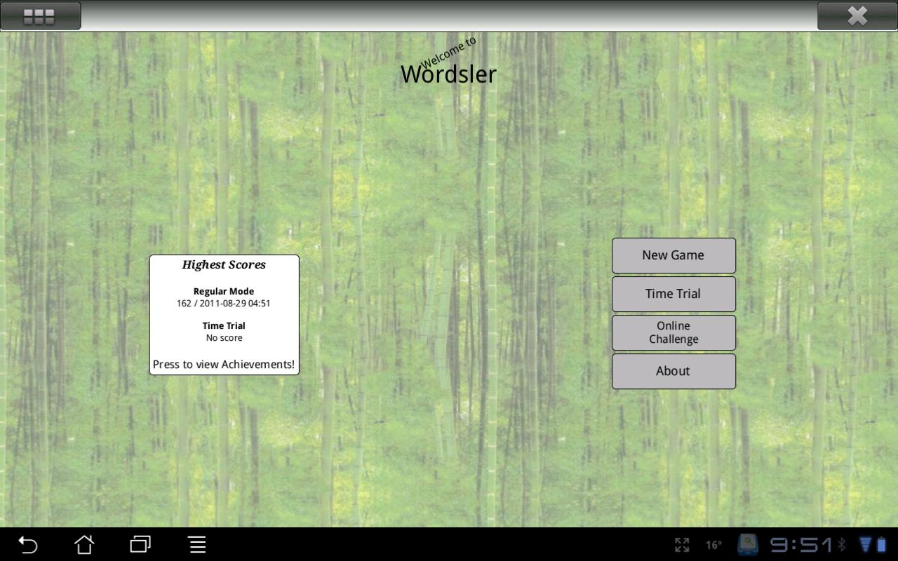 Wordsler- screenshot