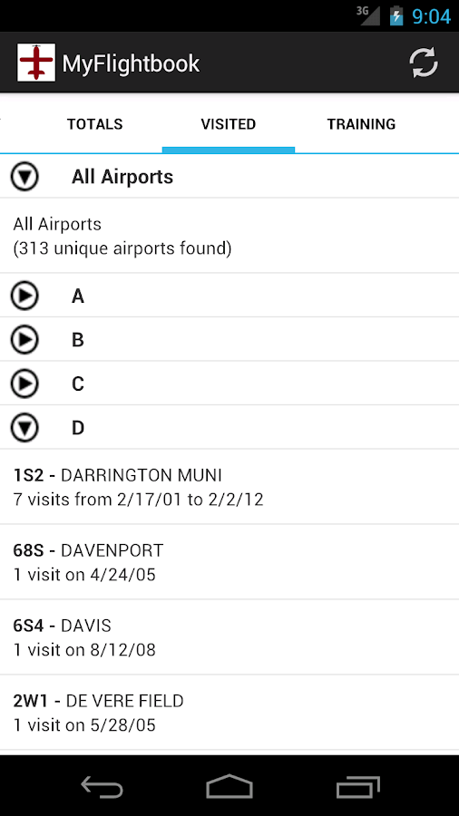 MyFlightbook for Android- screenshot