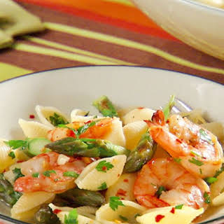 Shrimp Scampi with Asparagus.